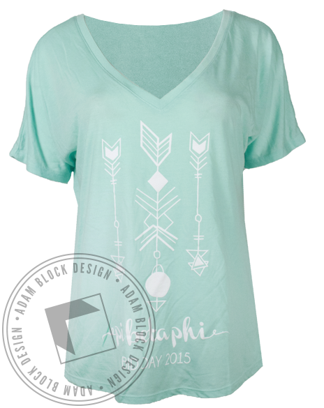 Pi Beta Phi Arrow Bid Day Tshirt-Adam Block Design