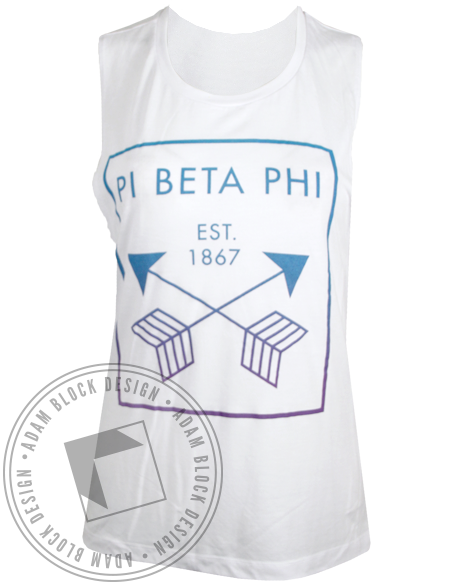 Pi Beta Phi Arrows 1867 Tank Top-Adam Block Design