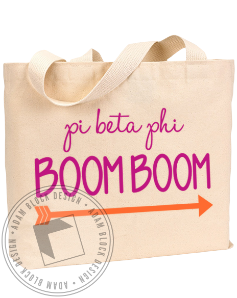 Pi Beta Phi Boom Boom Tote-gallery-Adam Block Design
