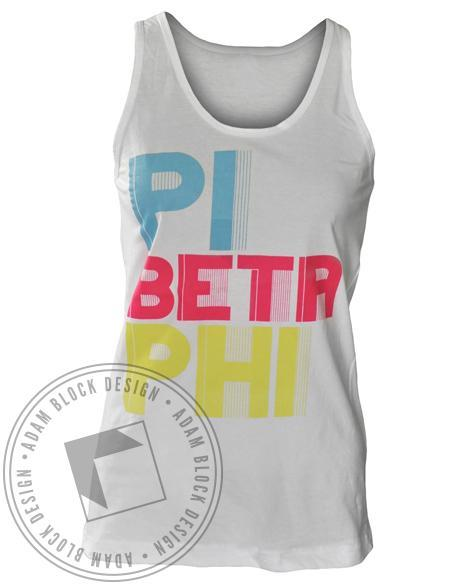 Pi Beta Phi Color Tank-Adam Block Design
