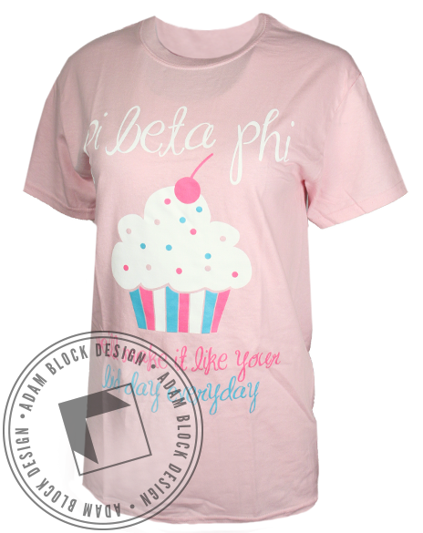 Pi Beta Phi Cupcake Tee-Adam Block Design