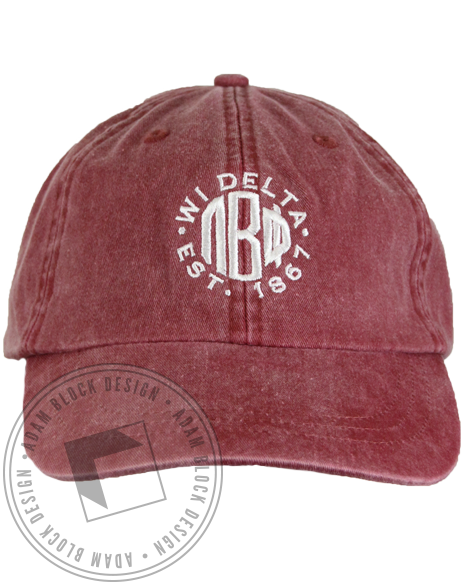 Pi Beta Phi Est. 1861 Baseball Cap-Adam Block Design