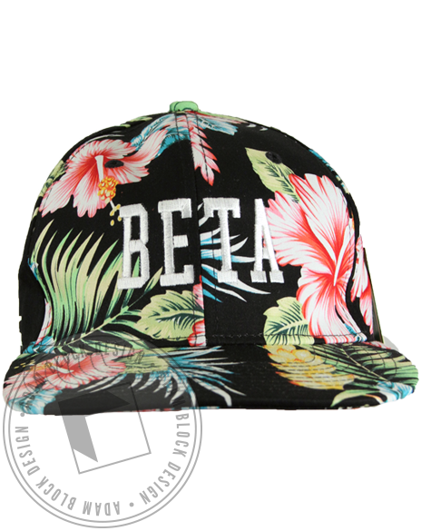 Pi Beta Phi Hibiscus Snapback Hat-Adam Block Design