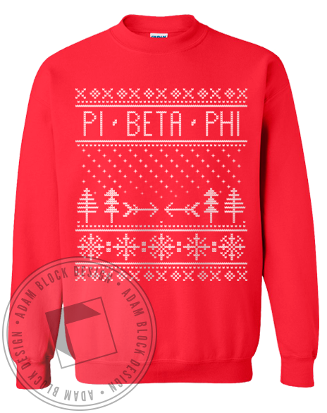 Pi Beta Phi Holiday Sweatshirt-Adam Block Design