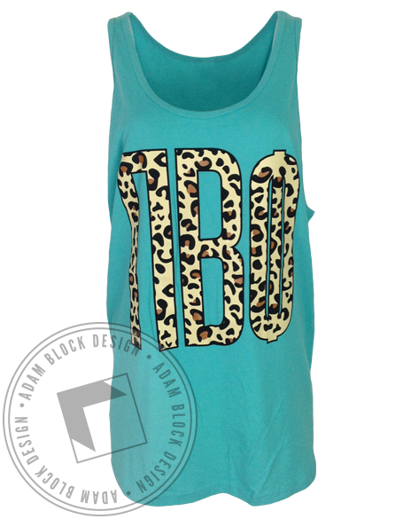 Pi Beta Phi Leopard Tank-Adam Block Design