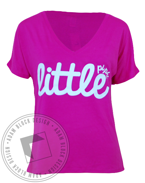 Pi Beta Phi Little V-Neck-Adam Block Design