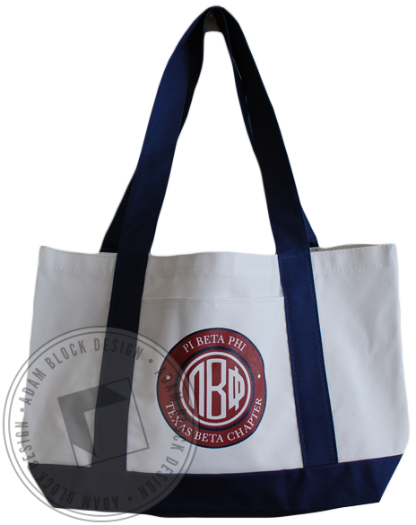 Pi Beta Phi Monogram Tote-gallery-Adam Block Design