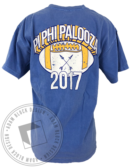 Pi Beta Phi Palooza Pocket Tee-Adam Block Design
