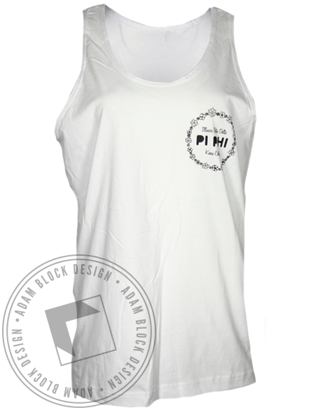 Pi Beta Phi Peace Sign Tank Top-gallery-Adam Block Design