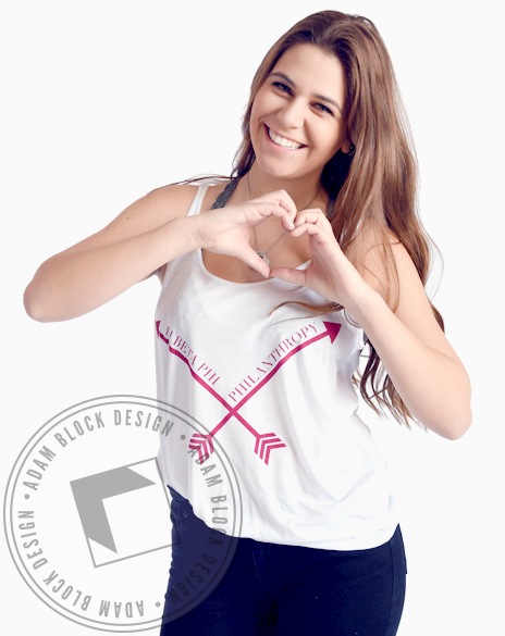 Pi Beta Phi Philanthropy Arrow Tank-Adam Block Design