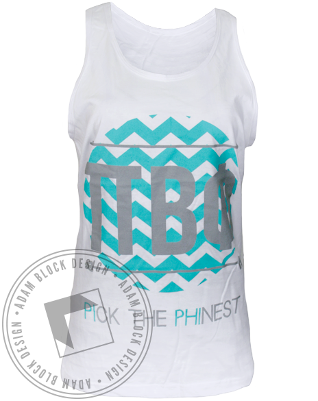 Pi Beta Phi Pick The Phinest Tank Top-Adam Block Design