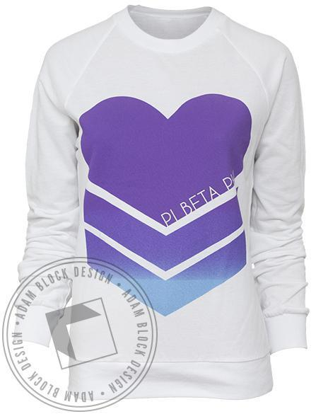 Pi Beta Phi Picked Heart Pullover-Adam Block Design