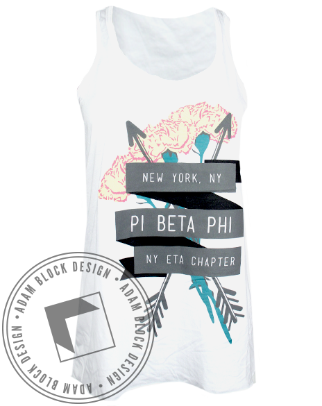 Pi Beta Phi Ribbon New York Tank-gallery-Adam Block Design