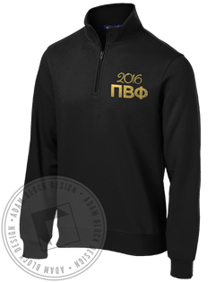Pi Beta Phi Seniors Halfzip-Adam Block Design