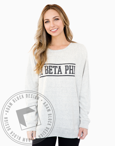 Pi Beta Phi Simple Poodle Sweatshirt-Adam Block Design