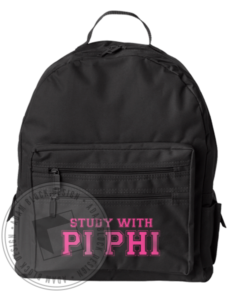 Pi Beta Phi Study With Us Backpack-gallery-Adam Block Design