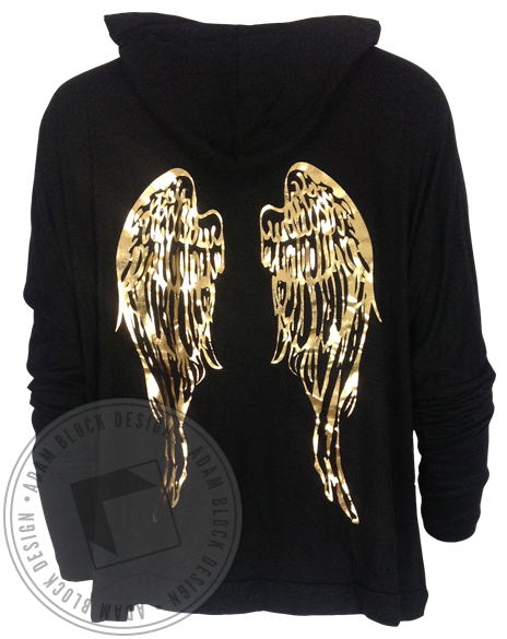 Pi Beta Phi Wings Flowy Hoody-Adam Block Design