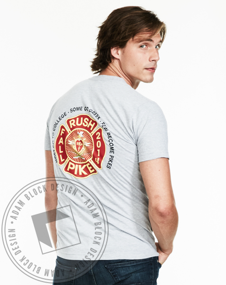 Pi Kappa Alpha Firefighter Rush Tee-Adam Block Design