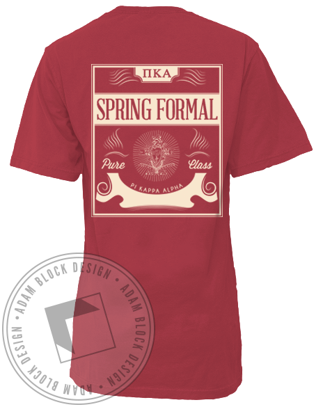 Pi Kappa Alpha Spring Formal Pocket Tee-Adam Block Design