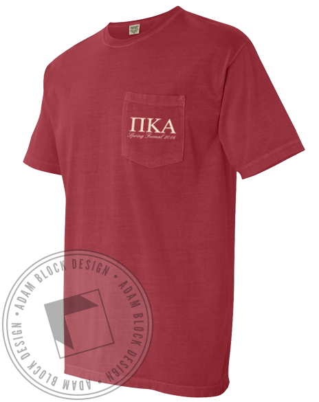 Pi Kappa Alpha Spring Formal Pocket Tee-gallery-Adam Block Design