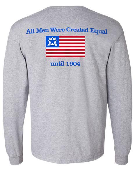 Pi Kappa Phi Created Equal Long Sleeve Tee-Adam Block Design