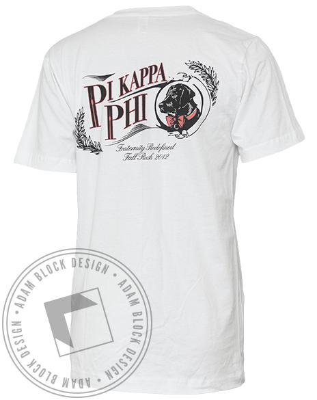 Pi Kappa Phi Dog Pocket Tee-Adam Block Design