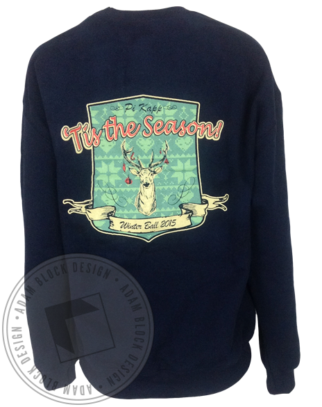 Pi Kappa Phi Tis The Season Sweatshirt-Adam Block Design