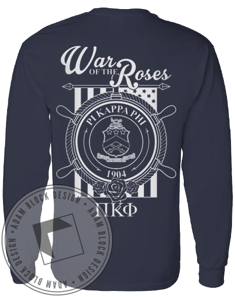 Pi Kappa Phi War Of The Roses Long Sleeve-Adam Block Design