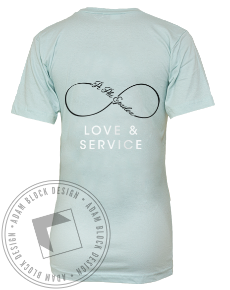 Pi Phi Epsilon Love & Service Vneck-Adam Block Design