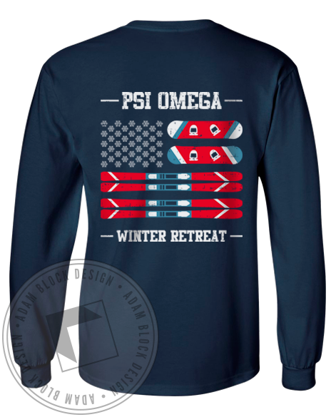 Psi Omega Winter Retreat Longsleeve-Adam Block Design
