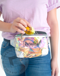 Recruitment Holographic Fanny Pack-Adam Block Design