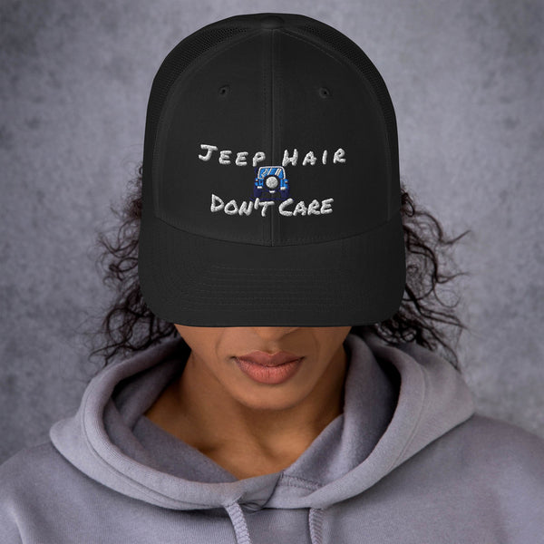 Jeep Hair Dont Car Hat - Trucker Cap