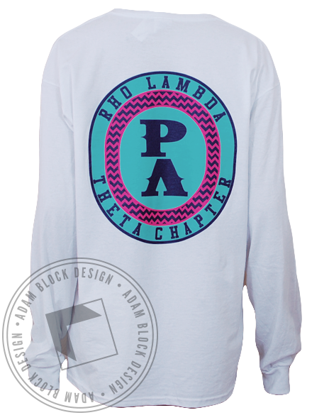 Rho Lambda Chevron Longsleeve-Adam Block Design