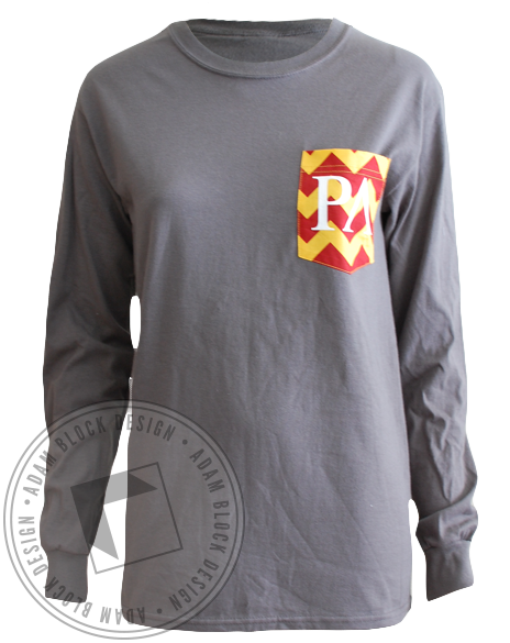 Rho Lambda Chevron Pocket Longsleeve-Adam Block Design