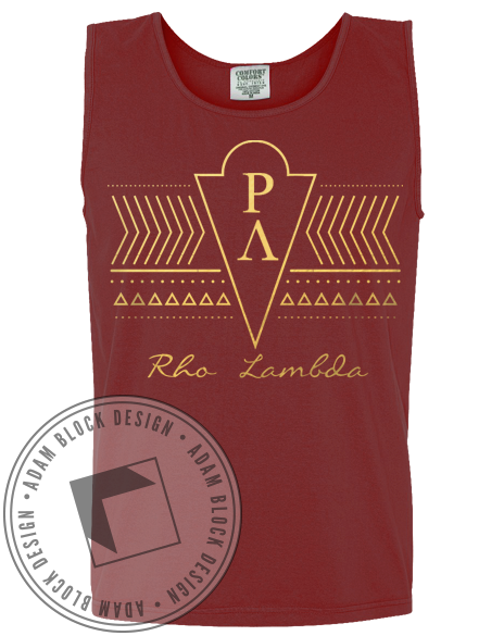 Rho Lambda Tribal Tank-Adam Block Design