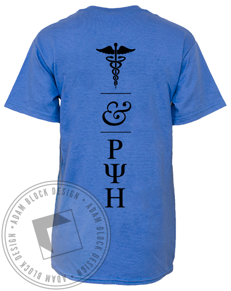 Rho Psi Eta Health Tee-Adam Block Design
