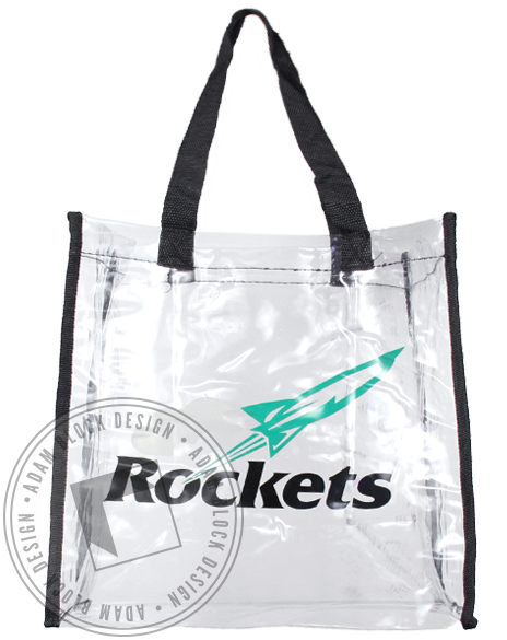 Rockets Clear Tote Bag-Adam Block Design