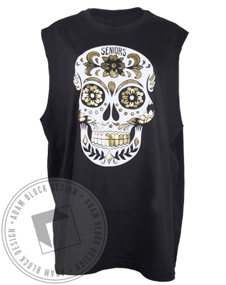 Seniors Bar Crawl Skull Tank Top-Adam Block Design