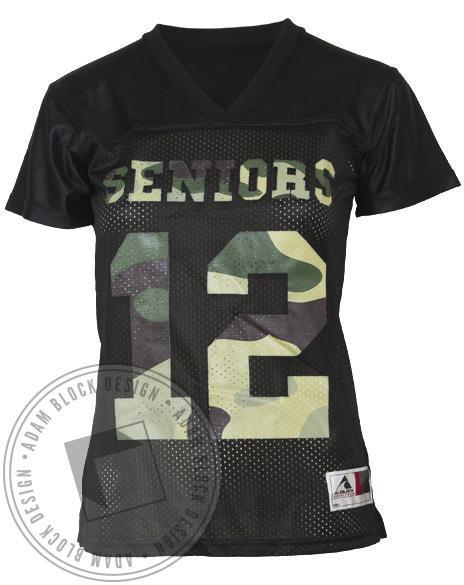 Seniors Camo Football Jersey-Adam Block Design