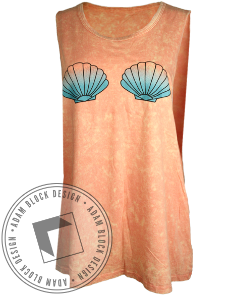 Shells & Champagne Muscle Tank-Adam Block Design