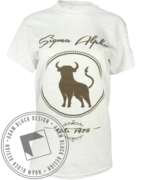 Sigma Alpha Cow Girls Tee-Adam Block Design