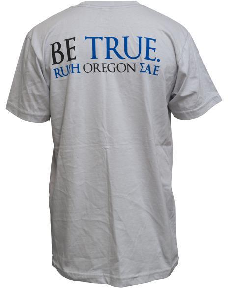 Sigma Alpha Epsilon Rush Oregon Tee-Adam Block Design