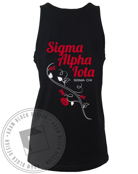 Sigma Alpha Iota Flower Tank-gallery-Adam Block Design