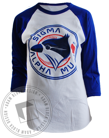 Sigma Alpha Mu Jays Baseball Tee-Adam Block Design