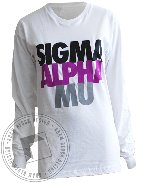 Sigma Alpha Mu Long Sleeve Tee-Adam Block Design