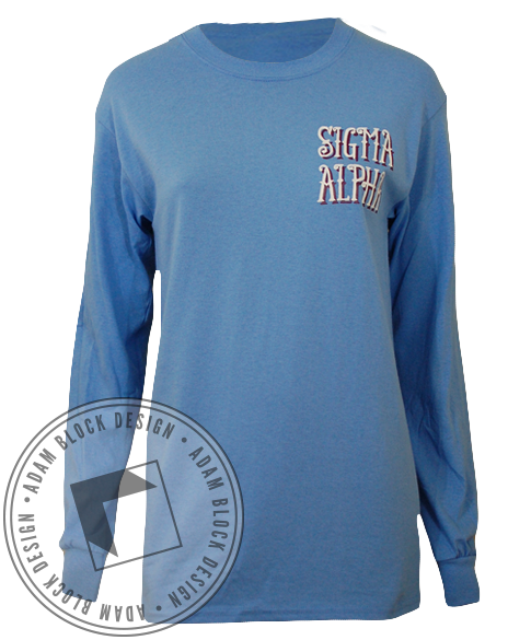 Sigma Alpha Walk Longsleeve-Adam Block Design