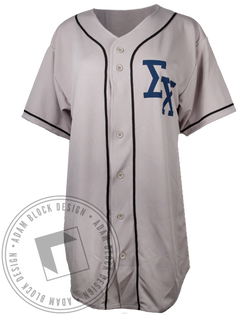 Sigma Chi Baseball Jersey-Adam Block Design