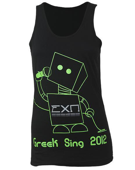 Sigma Chi Omega Greek Sing Robot Tank-Adam Block Design
