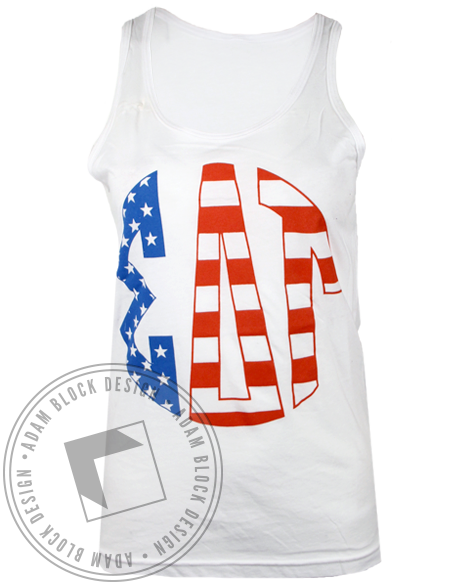 Sigma Delta Tau American Dream Tank Top-Adam Block Design
