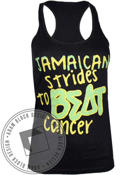 Sigma Delta Tau Beat Cancer Tank Top-Adam Block Design